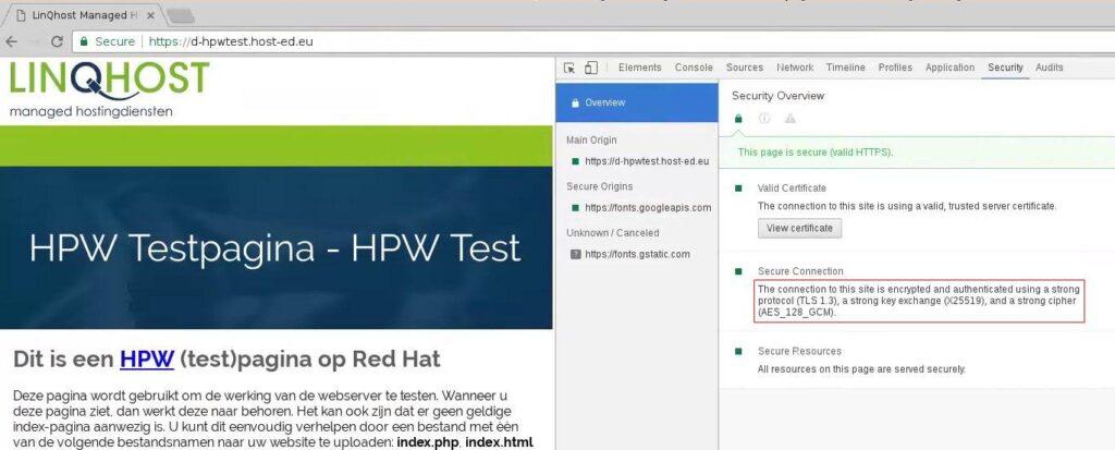 TLS 1.3 testserver
